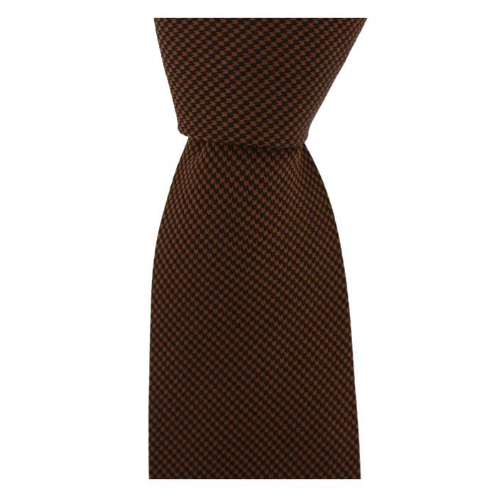 Burnt Orange Small Diamond Tie