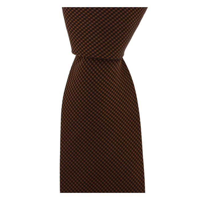 Burnt Orange Small Diamond Tie