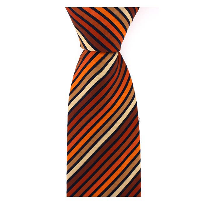 Orange Shades Multi Striped Tie