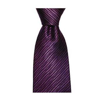 Purple Wave Patterned Tie