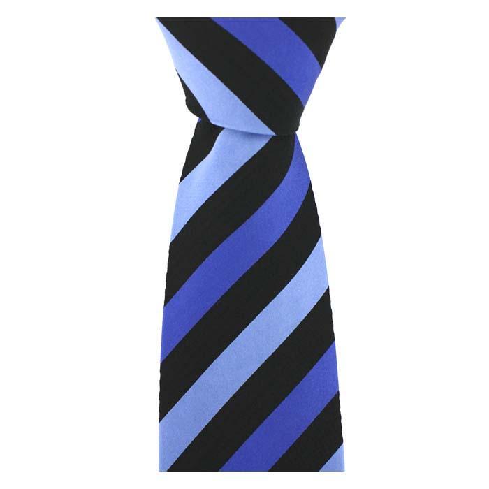 Blue Shades Striped Tie