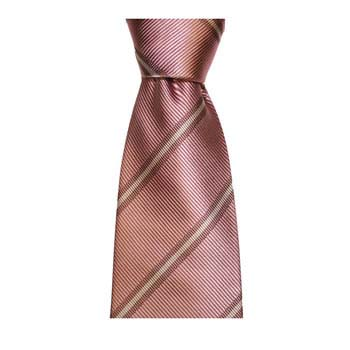 Pink And Grey Stripe Tie