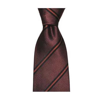 Wine Diagonal Stripe Tie