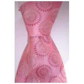 Pink Dandelion Pattern Tie