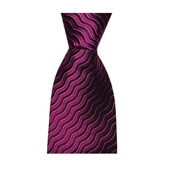 Burgundy Waves Tie