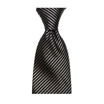 Black And Grey Diagonal Stripe Tie