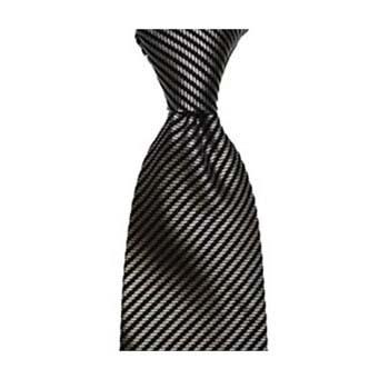 Black And Grey Diagonal Stripe Tie