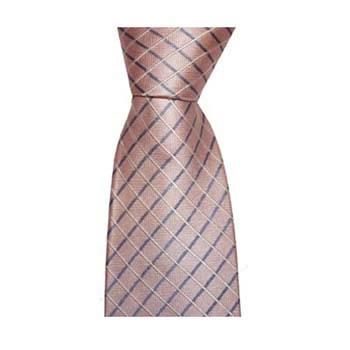 Pink Cross Stripe Tie