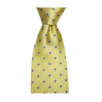 9756213343ff Lemon and Sky Blue Polka Dot Silk Tie. SKU: SAX_WS3117. £20.95