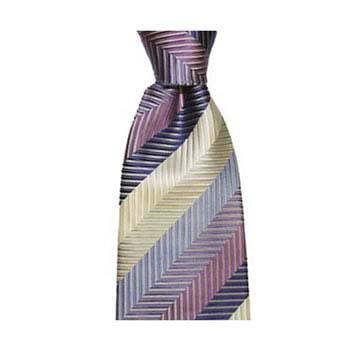 Purple Zig Zag Stripe Tie