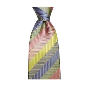 Multi Colour Zig Zag Stripe Tie