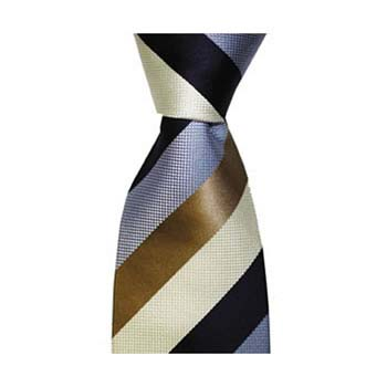 Blue And Brown Large Stripe Tie