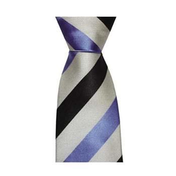 Black White And Blue Stripe Tie