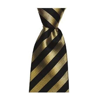 Black And Gold Thin Striped Tie