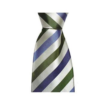 Blue And Green Stripe Tie