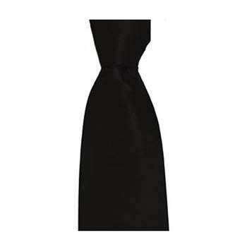 Black Plain Tonic Tie