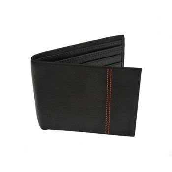 Black Double Cinnamon Stitch Jeans Wallet