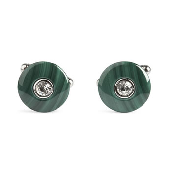Malachite Discus Cufflinks