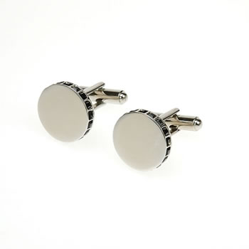 Crystal Edge Jet Cufflinks