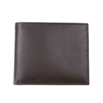 Brown Plain Leather Jeans Wallet