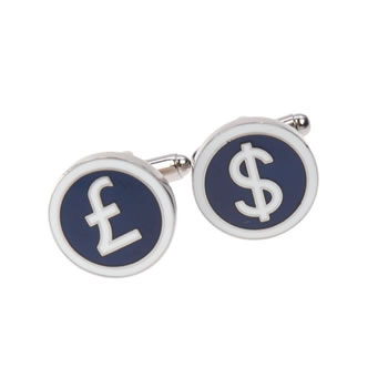 Pound And Dollar Cufflinks