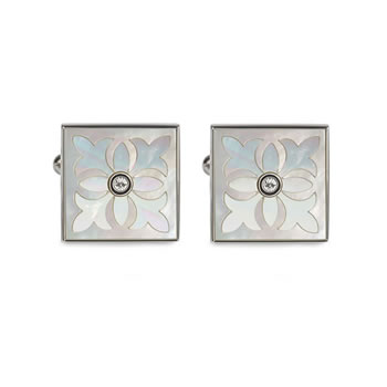 Mother Of Pearl Pugin Tile Cufflinks