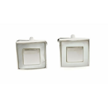 Square Moat Mother Of Pearl Cufflinks
