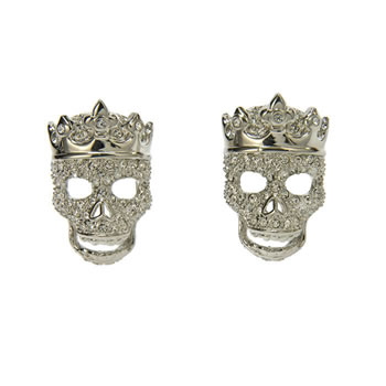 Tattoo Crowned Skull Cufflinks