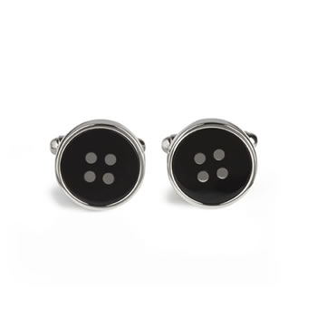 Black Button Cufflinks