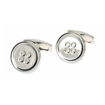 Metal Button Cufflinks