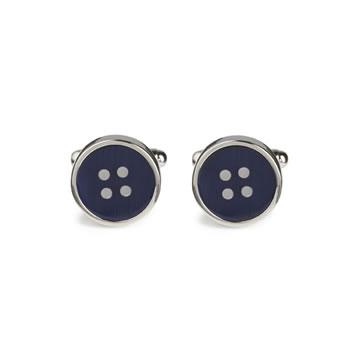 Navy Button Cufflinks