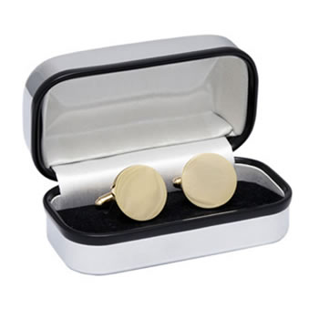 Round Gold Plated Cufflinks