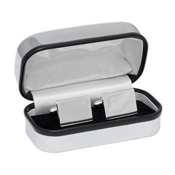 Rectangular Silver Plated Cufflinks