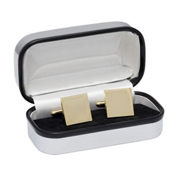Square Gold Plated Cufflinks