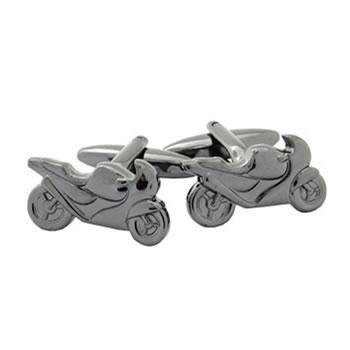 Gunmetal Motorbike Cufflinks