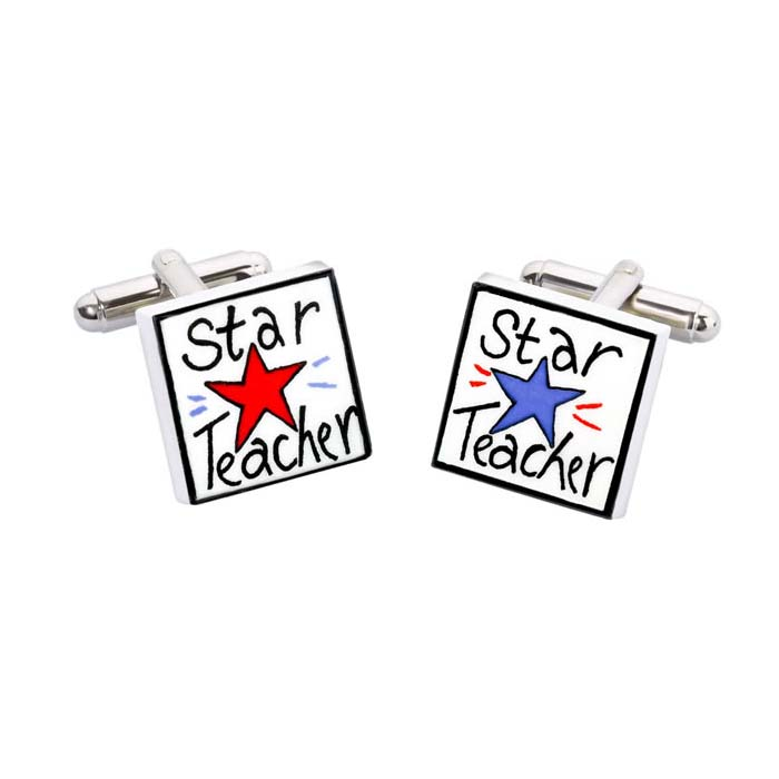 Star Teacher Cufflinks