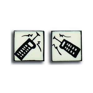 Mobile Phone Square Cufflinks