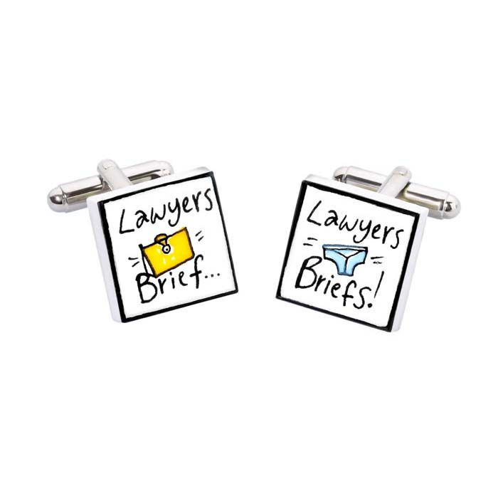 Lawyers Brief Briefs Cufflinks