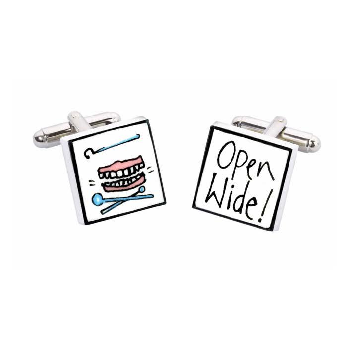 Open Wide Cufflinks