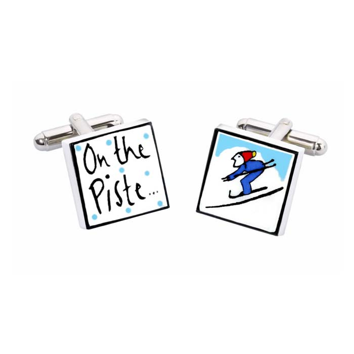 On The Piste Ski Cufflinks
