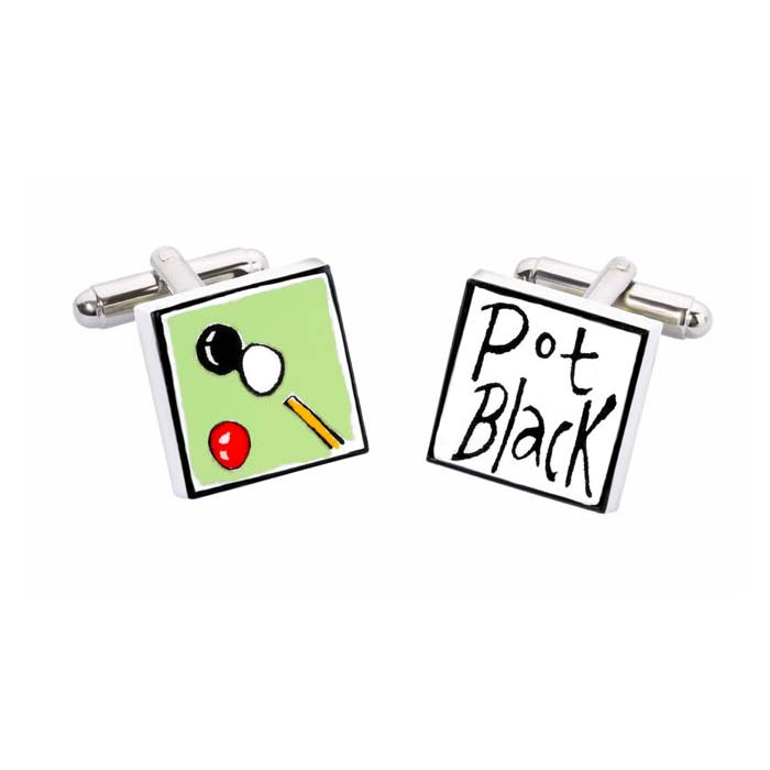 Pot Black Cufflinks