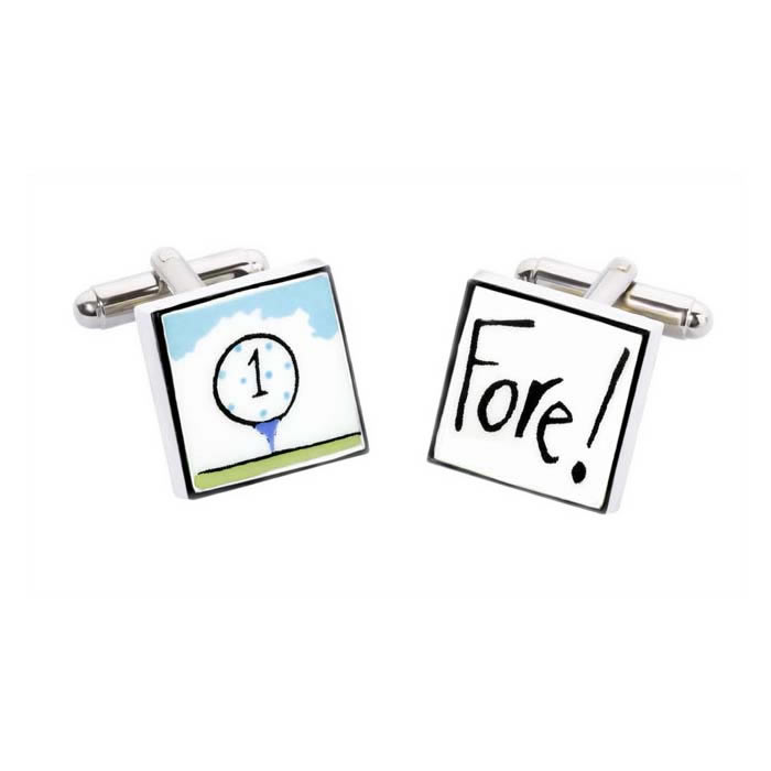 Golf Fore Cufflinks