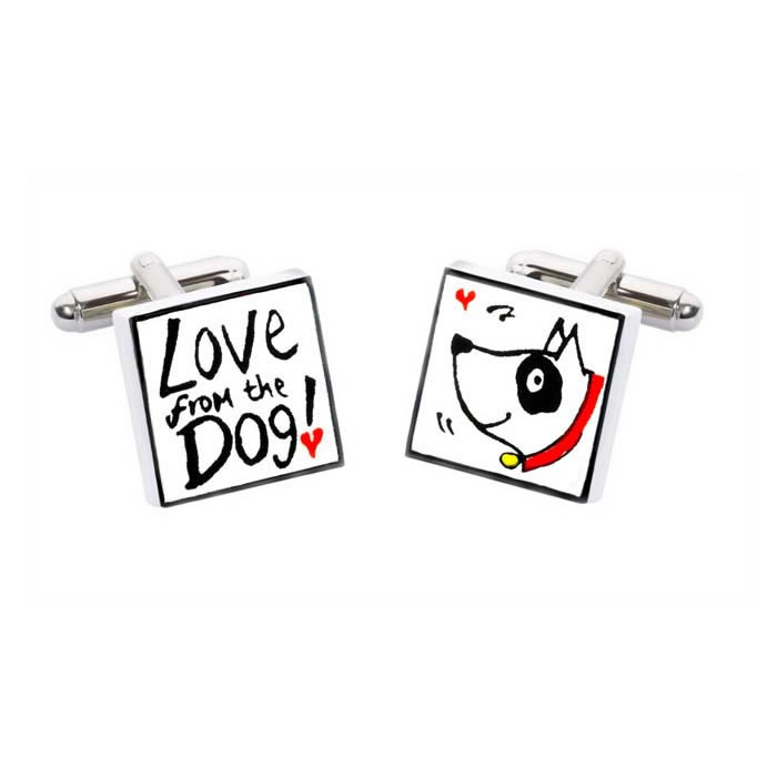 Love From The Dog Cufflinks