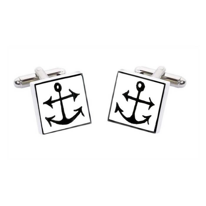 Square Anchor Cufflinks