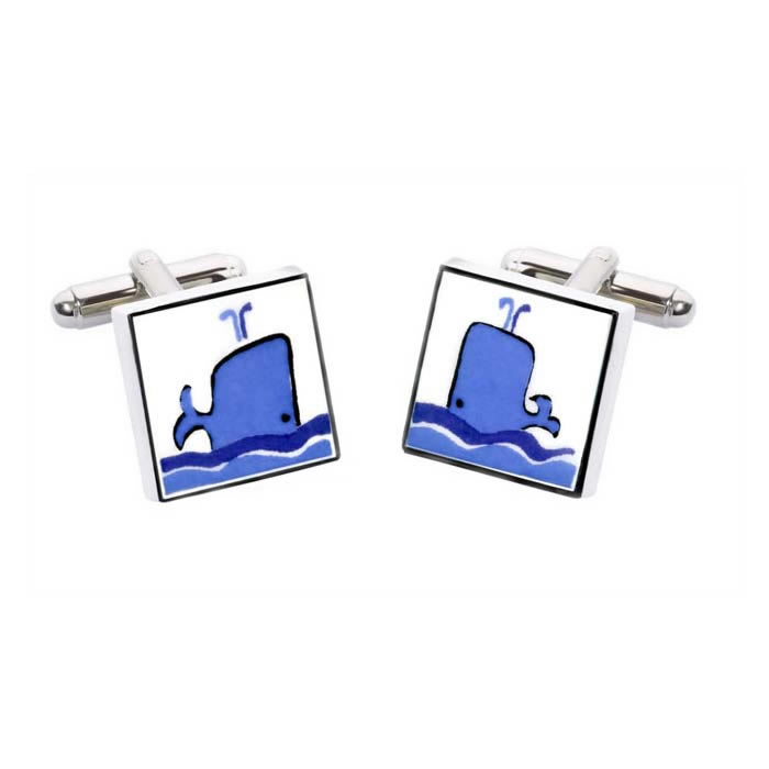 Whale Square Cufflinks
