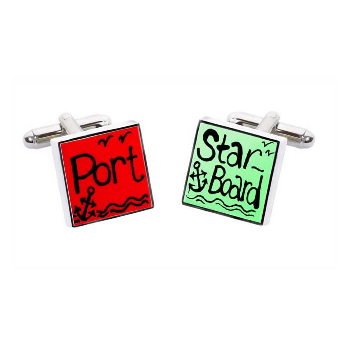 Port And Starboard Square Cufflinks