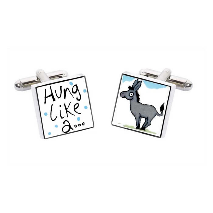 Hung Like A Donkey Cufflinks