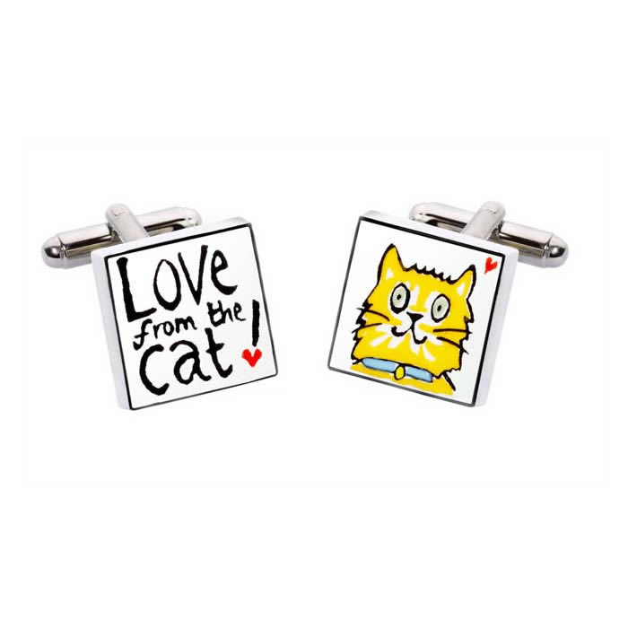 Love From The Cat Cufflinks