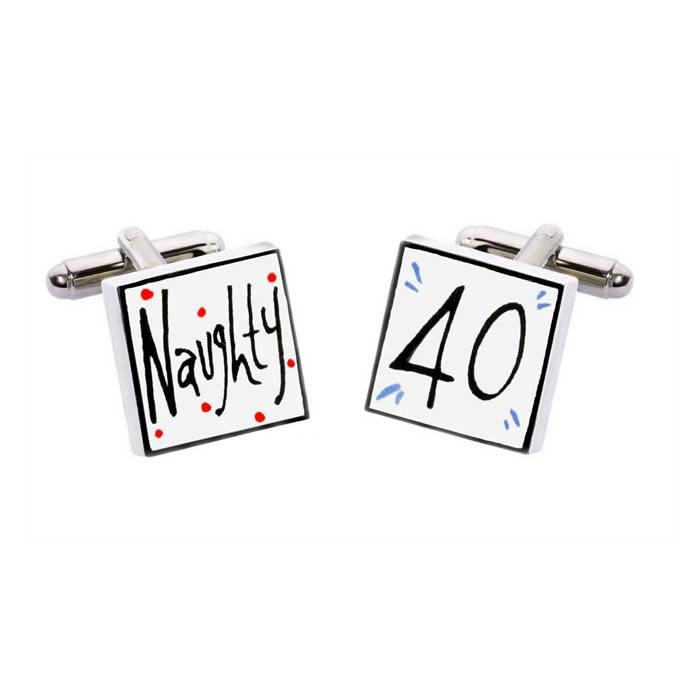 Naughty 40 Cufflinks