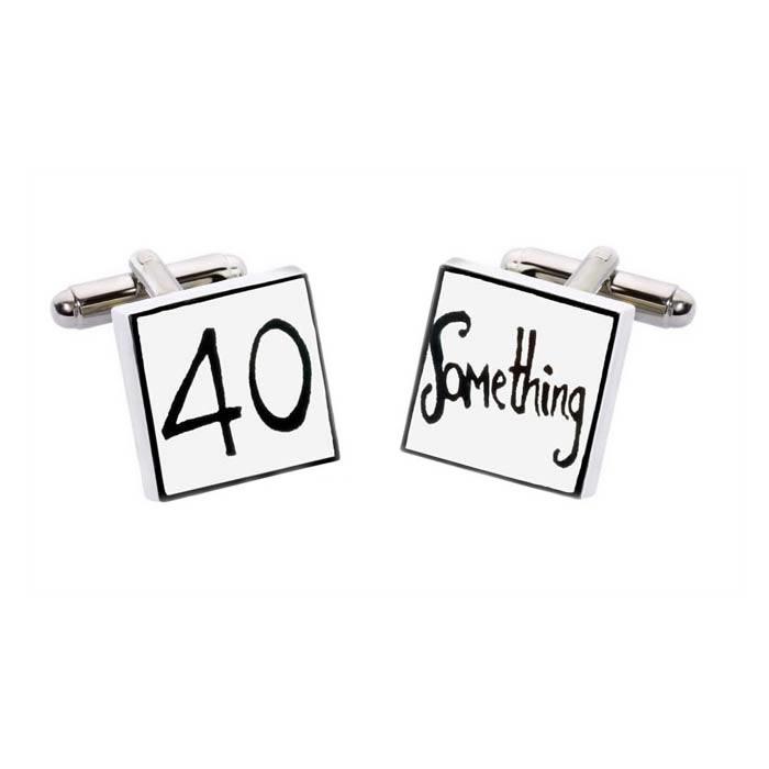 Square 40 Something Cufflinks